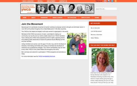 Screenshot of Signup Page ywcalancaster.org - YWCA Lancaster  » Join the Movement - captured Oct. 4, 2014