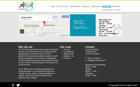 Screenshot of Contact Page familyfitmuslu.nl - contact - captured June 5, 2017
