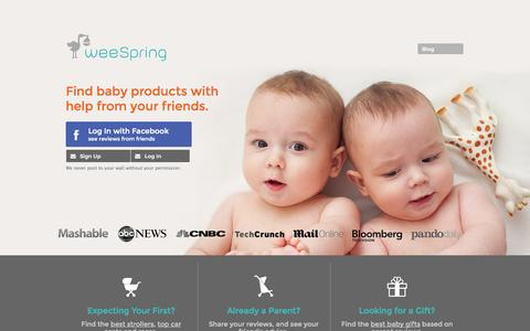 Screenshot of Home Page weespring.com - Trusted Reviews on Everything Your Need for Your Family   Find the Best Baby Gifts - captured Sept. 17, 2014