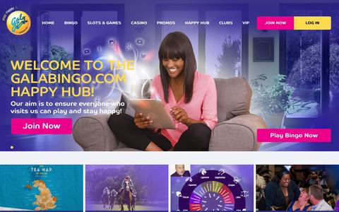 Screenshot of Press Page galabingo.com - News - Gala Bingo - captured Sept. 15, 2016