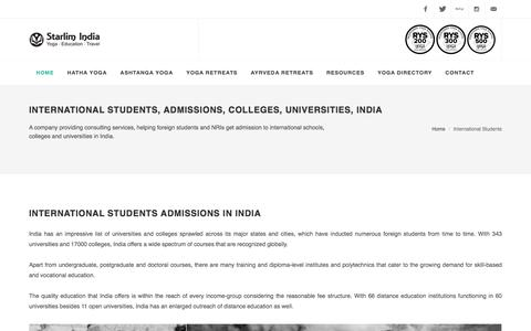 International Students, Admissions, Colleges, Universities, India
