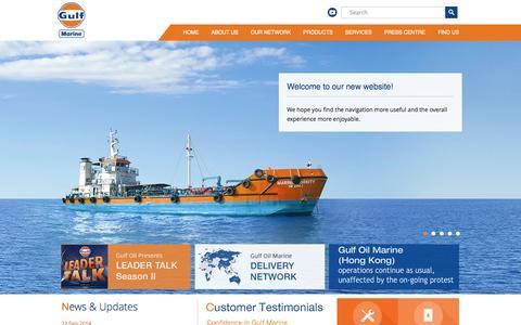 Screenshot of Home Page gulf-marine.com - Gulf Oil Marine Ltd. - captured Oct. 3, 2014