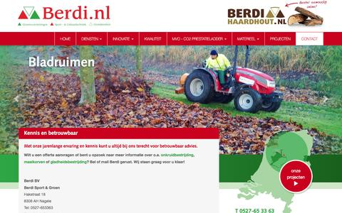 Screenshot of Contact Page berdi.nl - Contact met Berdi | Berdi - captured Feb. 7, 2016