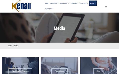 Screenshot of Press Page kenallinc.com - Media, Events, and Publications - Kenall - captured Oct. 15, 2018