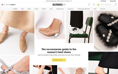 Screenshot of selfridges.com - Designer Fashion, Accessories & More - Shop Online at Selfridges - captured March 28, 2019