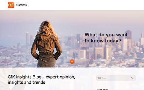 GfK Insights Blog - expert opinion, insights and trends
