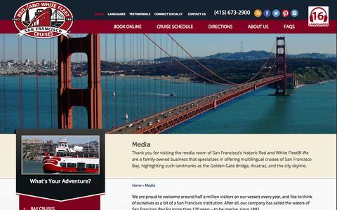 Screenshot of Press Page redandwhite.com - Media - Red and White Fleet Cruises - captured Oct. 9, 2014