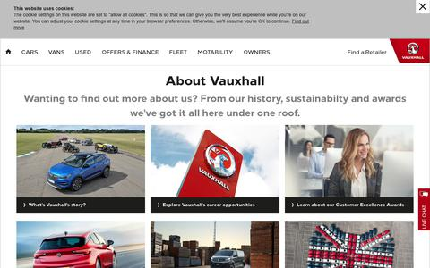 Screenshot of About Page vauxhall.co.uk - About Vauxhall | Vauxhall - captured Jan. 7, 2020