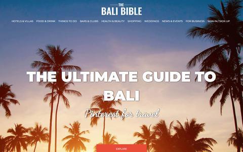 Screenshot of Contact Page thebalibible.com - The Bali Bible - The Ultimate Guide to Bali - captured Nov. 26, 2017