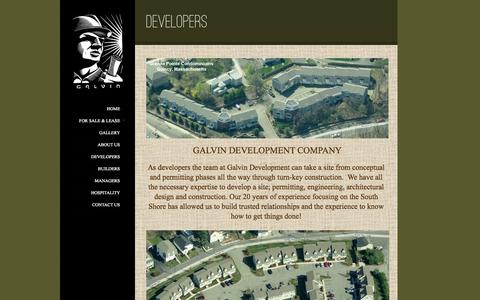 Screenshot of Developers Page galvinconstruction.com - Developers | Galvin Construction | Builders, Developers, & Managers in Quincy, MA - captured Oct. 6, 2014