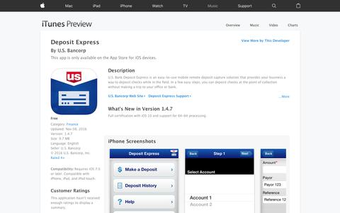 Deposit Express on the App Store
