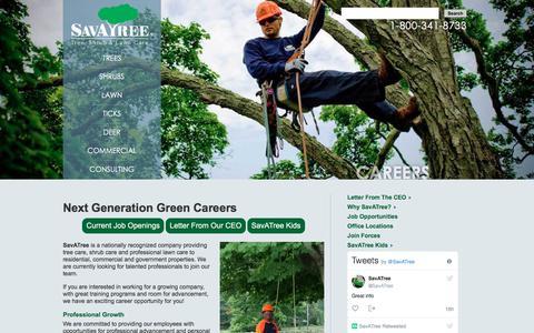 Screenshot of Jobs Page savatree.com - Tree & Lawn Care Jobs, Arborist Careers   SavATree - captured July 27, 2018