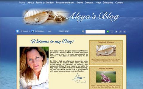 Screenshot of Blog aleyadao.com - Aleya Dao's Blog - captured Feb. 7, 2016