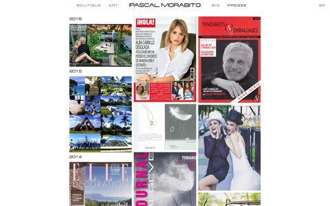 Screenshot of Press Page pascalmorabito.com - PASCAL MORABITO — PRESSE - captured May 14, 2017