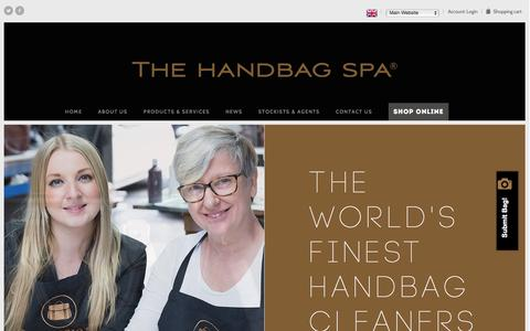 Screenshot of Home Page thehandbagspa.com - Handbag Repair, Restoration and Cleaning | The Handbag Spa - captured Feb. 15, 2016