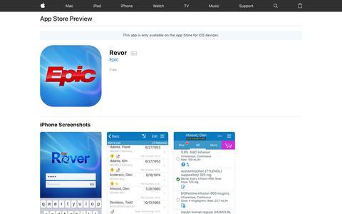 Revor on the AppStore