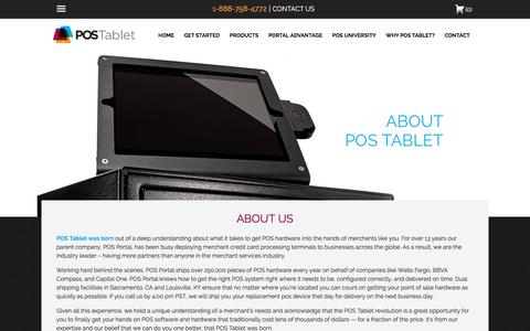 Screenshot of About Page postablet.com - Small Business POS - We Carry All the Top Brands | POS Tablet - captured July 9, 2016