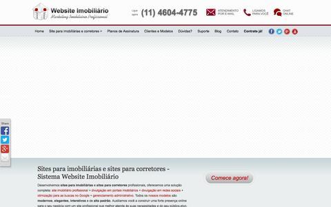Screenshot of Home Page websiteimobiliario.com.br - Sites Imobiliárias Corretores Sistema Website Imobiliário por R$ 49,90 - captured Sept. 19, 2014
