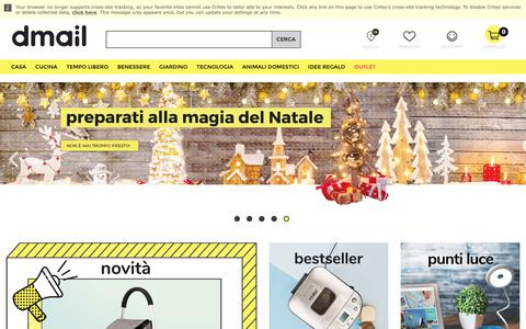 Screenshot of Home Page dmail.it - D-Mail - Idee Utili e Introvabili - captured Oct. 9, 2018