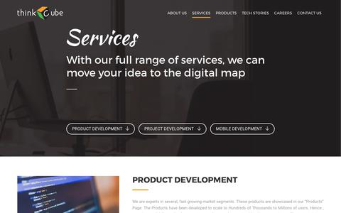 Screenshot of Services Page thinkcube.com - Services – Thinkcube - captured Oct. 25, 2017
