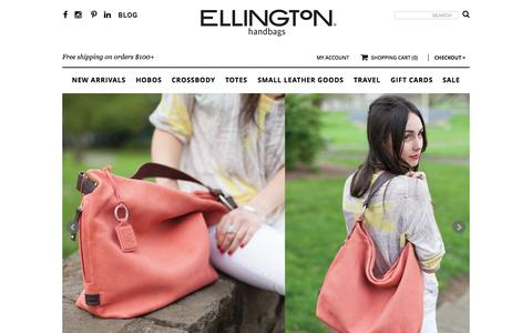 Screenshot of Home Page ellingtonhandbags.com - Women's Casual-Chic Handbags | Shop Ellington Handbags - captured July 21, 2015