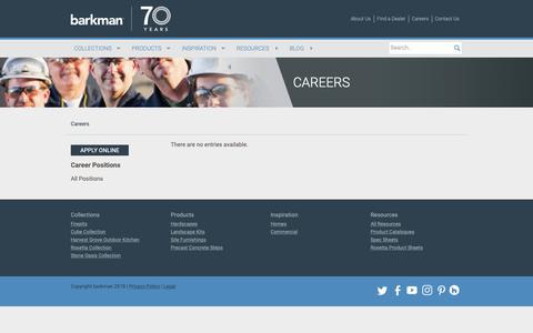 Screenshot of Jobs Page barkmanconcrete.com - Careers | Barkman Concrete Ltd. - captured Oct. 5, 2018
