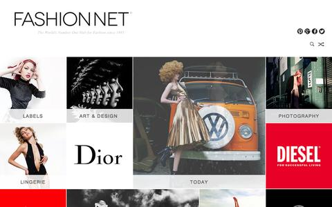 Screenshot of Home Page fashion.net - FASHION NET | this is the world of fashion - captured Sept. 23, 2014