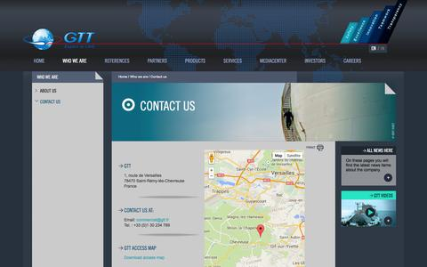 Screenshot of Contact Page gtt.fr - Contact us   GTT - captured Oct. 22, 2014