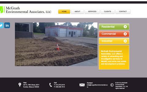 Screenshot of Home Page mcgrathenvironmental.com - environmental testing - captured Oct. 6, 2014