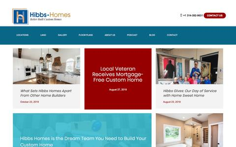 Screenshot of Blog hibbshomes.com - Blog | Hibbs Homes, St Louis Home Builder - captured Nov. 11, 2019