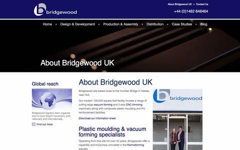 Screenshot of About Page bridgewooduk.com - About Bridgewood UK - captured Sept. 30, 2014