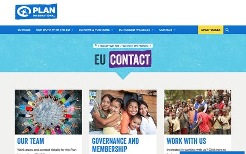Screenshot of Contact Page plan-international.org - EU Contact - captured Dec. 29, 2016