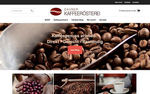 Screenshot of dauner-kaffeeroesterei.de - Dauner Kaffeerösterei - Kaffeegenuss erleben! - captured March 31, 2017