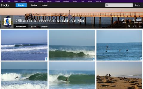 Screenshot of Flickr Page flickr.com - Flickr: Office de Tourisme la Tranche sur Mer's Photostream - captured Oct. 31, 2014