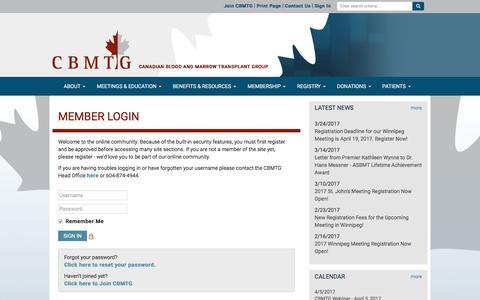 Screenshot of Login Page site-ym.com - CBMTG - captured April 4, 2017