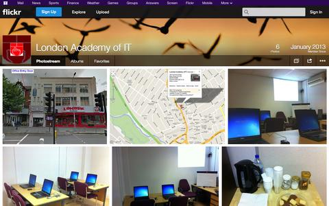 Screenshot of Flickr Page flickr.com - Flickr: London Academy of IT's Photostream - captured Oct. 23, 2014