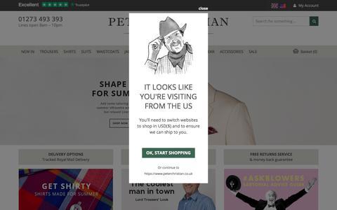 Screenshot of Home Page peterchristian.co.uk - Gentlemen's Outfitters, Men's Accessories & Gentlemen's clothing - Peter Christian - captured July 17, 2018