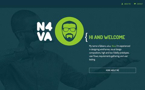 Screenshot of Home Page n4va.com - UX/UI Portfolio by N4VA - Telling stories with pixels - captured Oct. 7, 2014