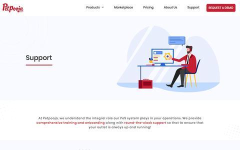 Screenshot of Support Page petpooja.com - Petpooja - support - captured Nov. 7, 2019
