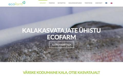Screenshot of Home Page ecofarm.ee - Esileht - Ecofarm - captured Jan. 25, 2016