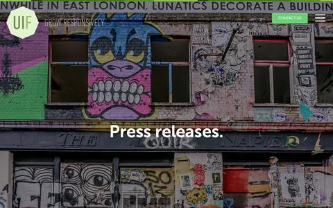 Screenshot of Press Page uifarm.co.uk - Press releases. | UI Farm - captured Jan. 25, 2019