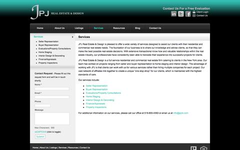 Screenshot of Services Page jpjre.com - Services -   JPJ Real Estate & Design - captured Oct. 6, 2014