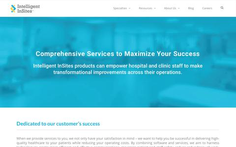Screenshot of Services Page intelligentinsites.com - Our Services | Intelligent InSites - captured May 9, 2017