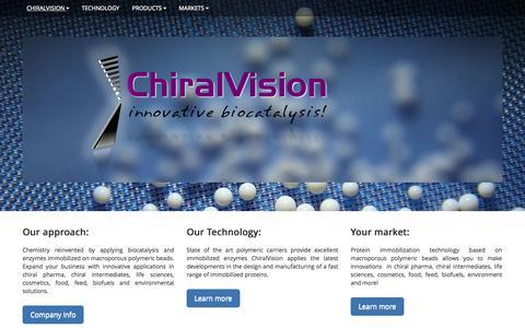Screenshot of Home Page chiralvision.com - ChiralVision - captured Oct. 14, 2015