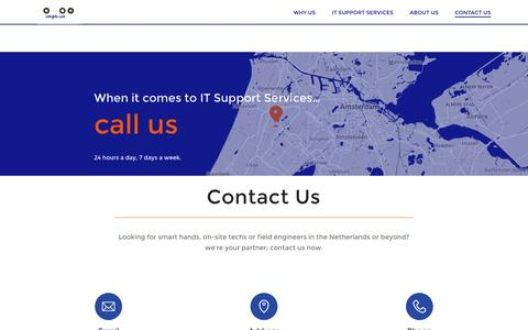 Screenshot of Contact Page Maps & Directions Page impli-cit.com - Contact Us - IT Support Services in the Netherlands - captured Jan. 22, 2017