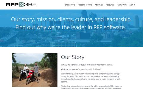 Screenshot of About Page rfp365.com - About Us | RFP365 - captured July 18, 2018
