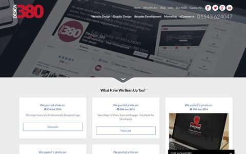 Screenshot of Blog design380.com - Design 380 Blog Web Design - captured Aug. 1, 2016