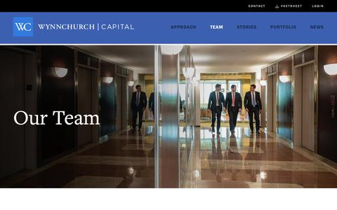 Screenshot of Team Page wynnchurch.com - Our Team: Partnering For Middle Market Success | Wynnchurch Capital - captured Oct. 18, 2018