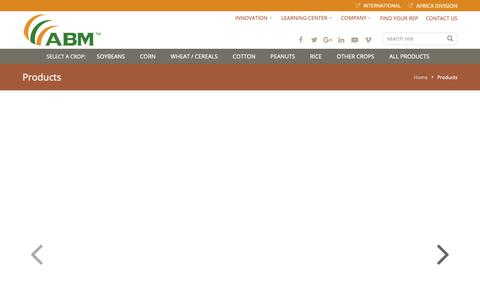 Screenshot of Products Page abm1st.com - Products - Advanced Biological Marketing | ABM1st - captured Oct. 3, 2018