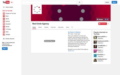 Screenshot of YouTube Page youtube.com - Red Circle Agency  - YouTube - captured Oct. 29, 2014